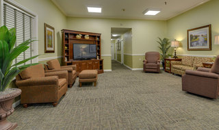 Assisted senior living community lounge