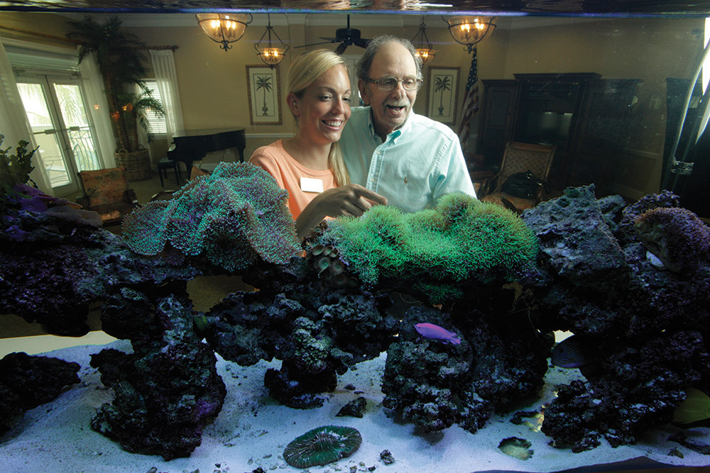 Aquarium at tequesta senior living