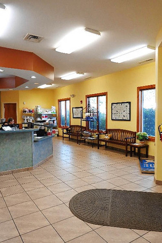 Your pet will love our lobby at valley animal hospital