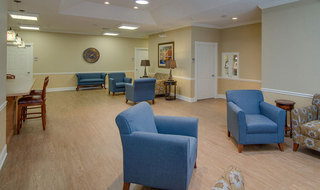 Community area at hutchinson senior living for memory care