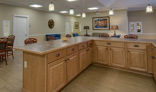 Hutchinson memory care dining area