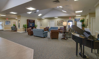 Hutchinson memory care senior living lobby