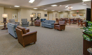 Lobby at hutchinson senior living memory care community