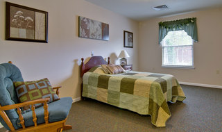 Washington bedroom in memory care community