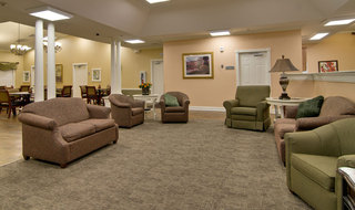 Common area at fairview heights memory care