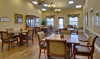 Eating hall at the memory care in fairview heights