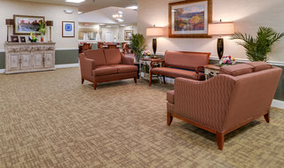 Gathering area at the jefferson city memory care