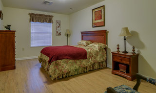 Large bedroom at memory care in smyrna
