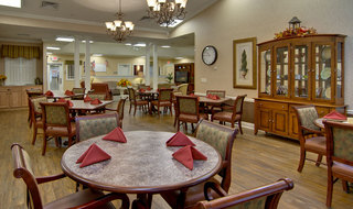 Dinning area at the memory care in olive branch