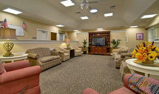Olive branch memory care tv lounge