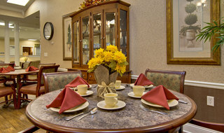 Set table at memory care in olive branch
