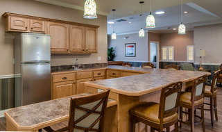 Kitchen at memory care in quincy