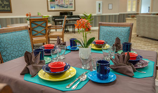 Memory care set table in quincy