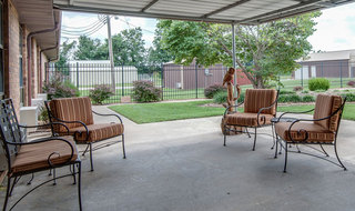 Back porch at chaffee skilled nursing