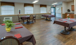 Dinning set in chaffee at skilled nursing