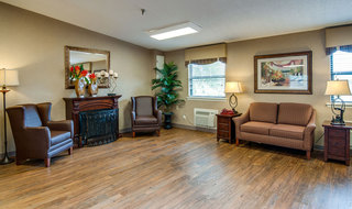 Fire side lounge at chaffee skilled nursing