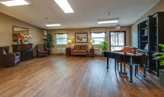 Piano room at chaffee skilled nursing