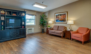 Tv lounge at chaffee skilled nursing