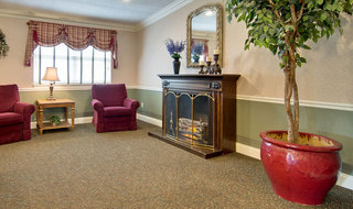 Fire place at kennett skilled nursing