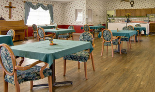 Dinning hall at marceline skilled nursing