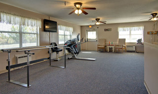 Exercise room at marceline skilled nursing