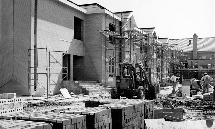Black white construction senior living facility