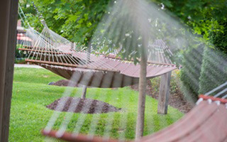 Outdoor hammocks jmg student housing
