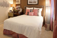 Luxury model bedroom at The Resort at Lake Crossing in Lexington