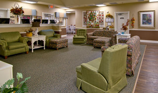 Community area for memory care senior living in collierville