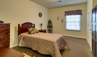 Senior memory care model bedroom in collierville