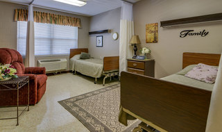 Double bedroom at skilled nursing in chanute