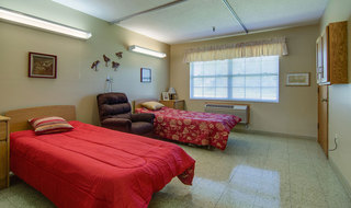 Double bedrom at moran skilled nursing