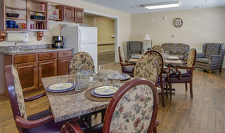 Kitchen at skilled nursing in moran