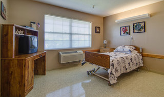 Single bedroom at moran skilled nursing