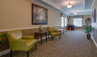 Relaxation area at paola skilled nursing