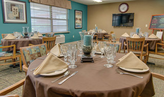 Set table at skilled nursing in paola