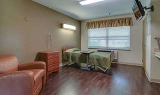 Single bedroom at skilled nursing in paola