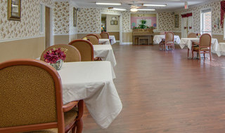 Dinning hall at osage city skilled nursing