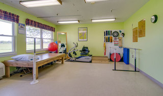 Exercise room at osage city skilled nursing