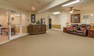 Lobby at osage city skilled nursing