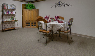 Secluded dinning at osage city skilled nursing