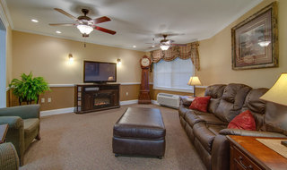 Tv lounge at osage city skilled nursing