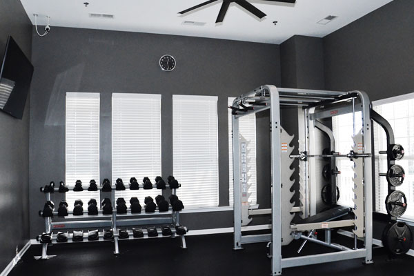 Weight equipment fitness center
