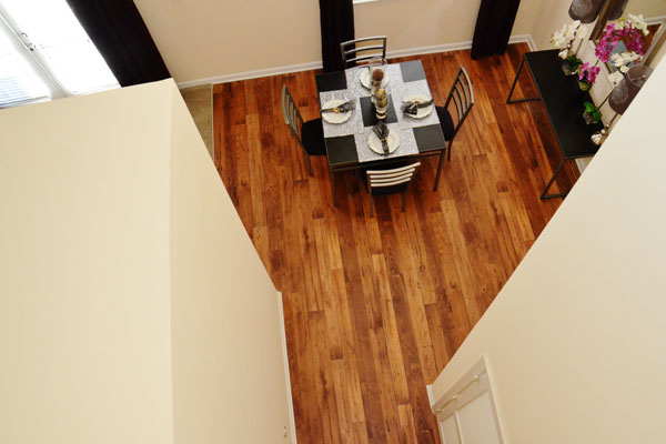 Apartments with plank flooring