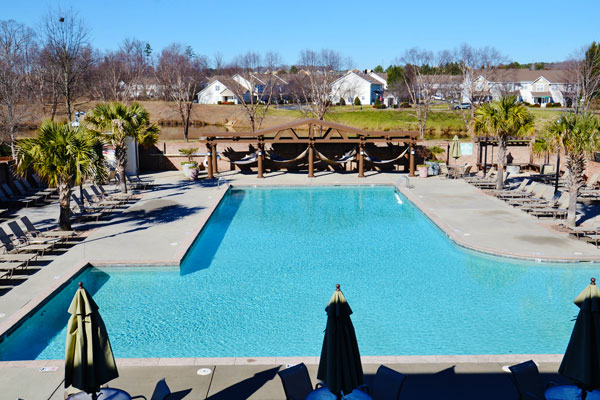 Birkdale apartments pool deck