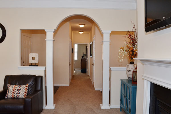 Interior hallway and arch