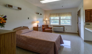 Model skilled nursing bedroom in sabetha