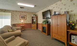 Skilled nursing community entertainment room in sabetha