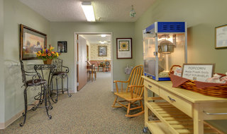 Skilled nursing interior common area in sabetha