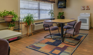 Common baking area in russell skilled nursing